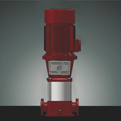 非自吸立式多级消防泵组,电机轴通过联轴器直接与泵轴联接,叶轮导